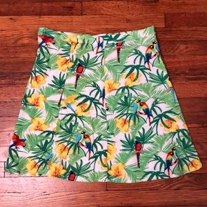 Tropical print high waisted mini skirt